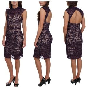 JVN by Jovani Lace Rhinestone Semi-Formal Dress